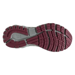 Brooks Adrenaline GTS 19 Knit - Womens Running Shoes - Grey/White/Fig