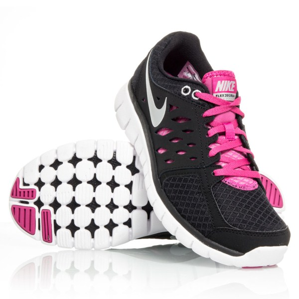 Nike Flex 2013 RN - Womens Running Shoes - Black Pink White  7086af9d7