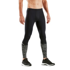 2XU Reflect Run Mens Running Tights With Storage