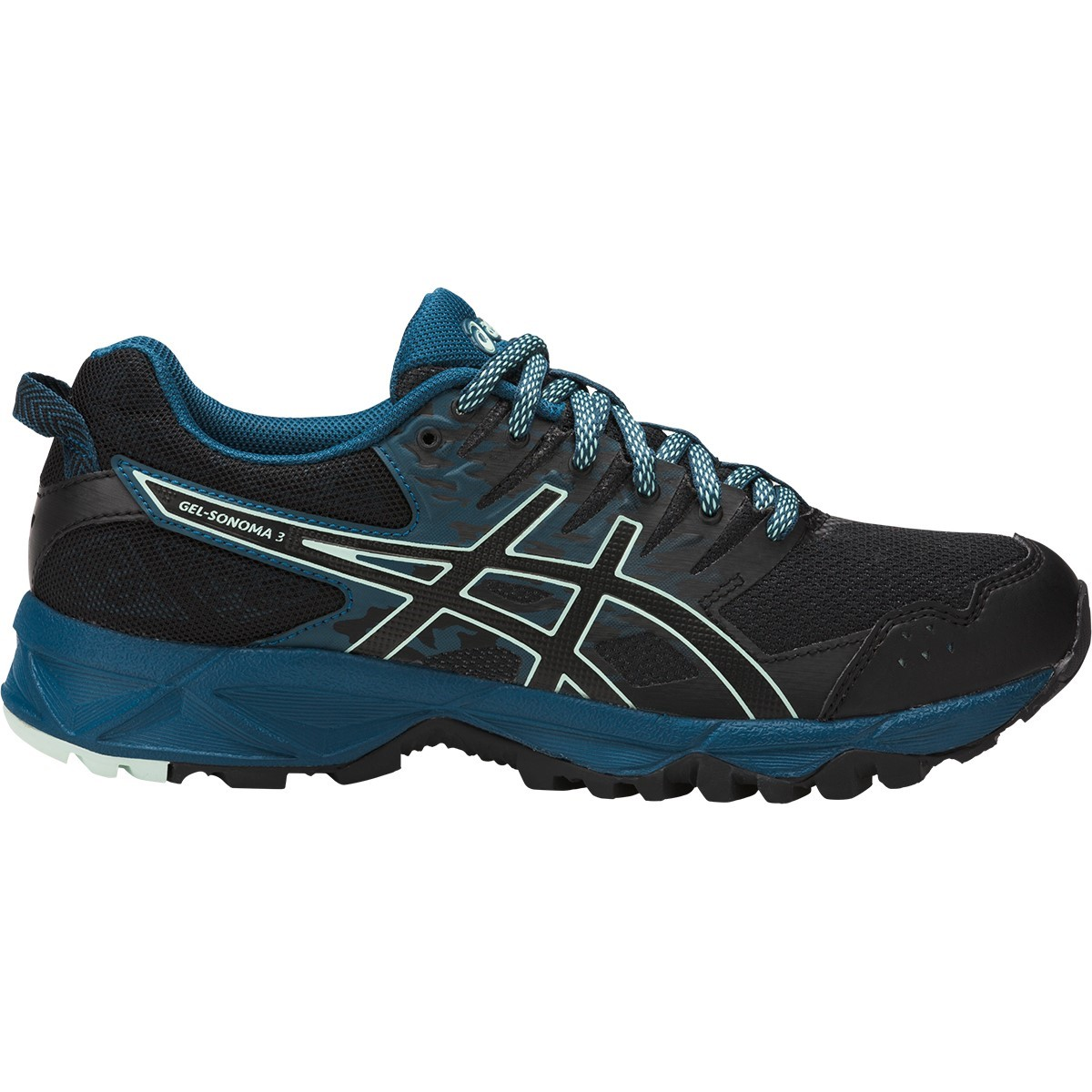 Womens Black Asics Trail Running Shoes