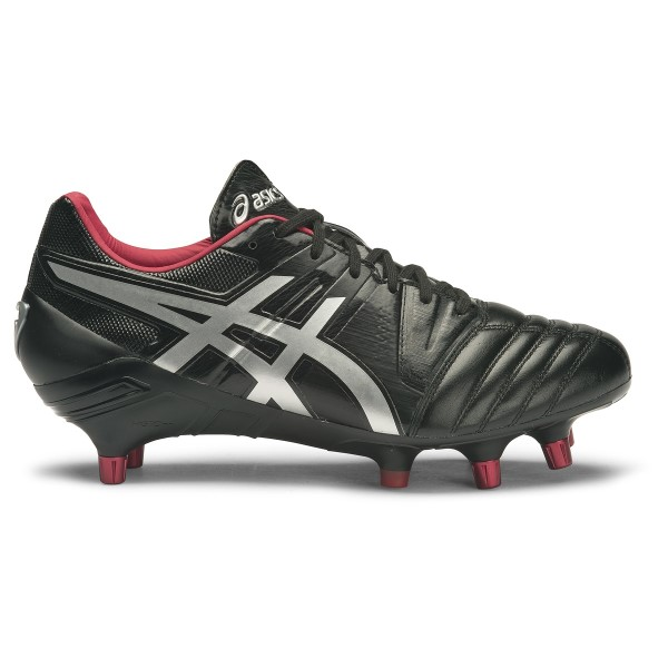 Asics Gel Lethal Tight Five - Mens Rugby Boots - Black/Silver/Racing Red