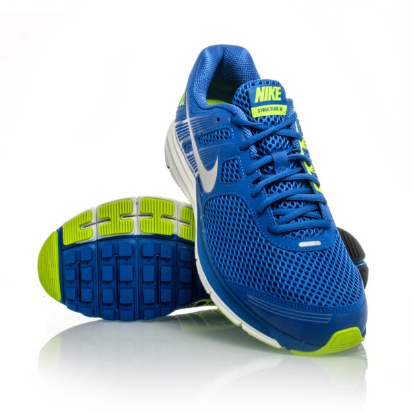 7bdb8a356899 Nike Zoom Structure+ 16 - Mens Running Shoes - Blue/Silver/Volt ...