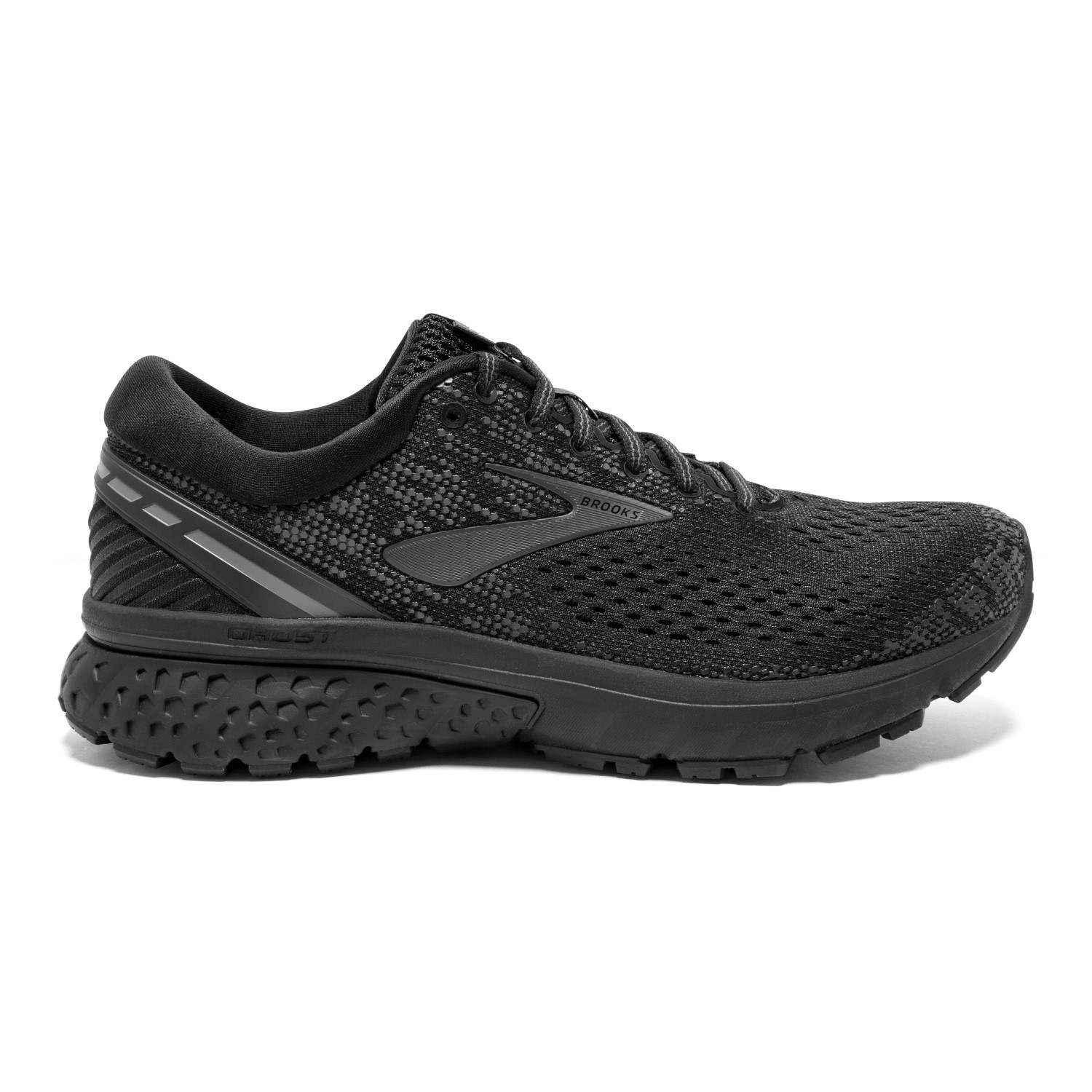 88501f5636f Brooks Ghost 11 - Womens Running Shoes - Black Ebony