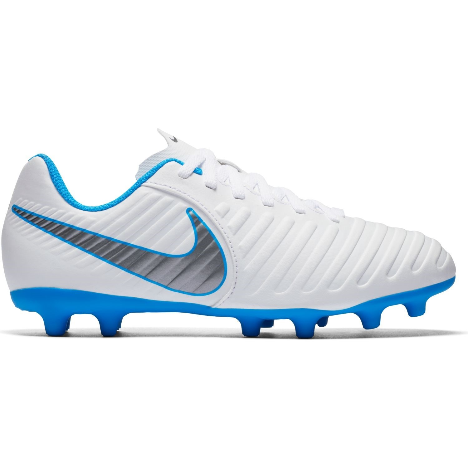 online store f292c abe6d Nike Jr Tiempo Legend VII Club FG - Kids Football Boots - White Metallic