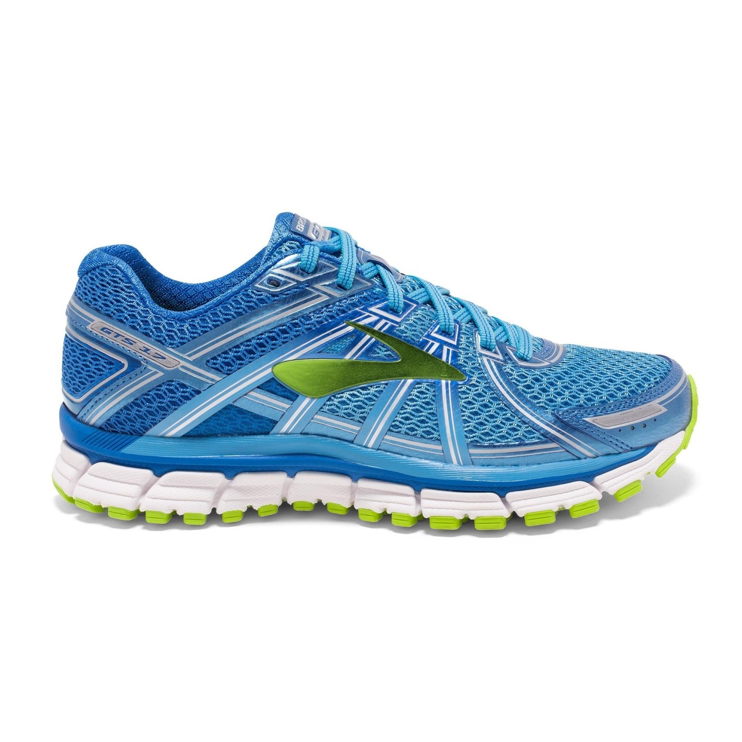 bfe7b7675af Brooks Adrenaline GTS 17 - Womens Running Shoes - Azure Blue Lime Punch