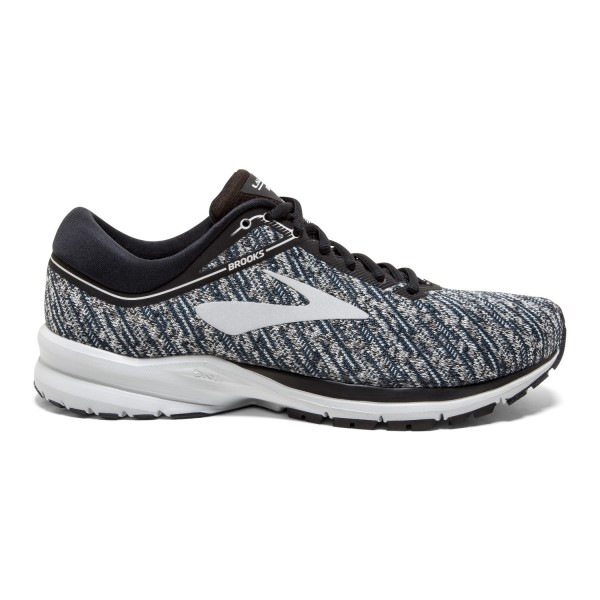 Brooks Launch 5 Knit - Mens Running Shoes - Black/Ebony/Primer Grey