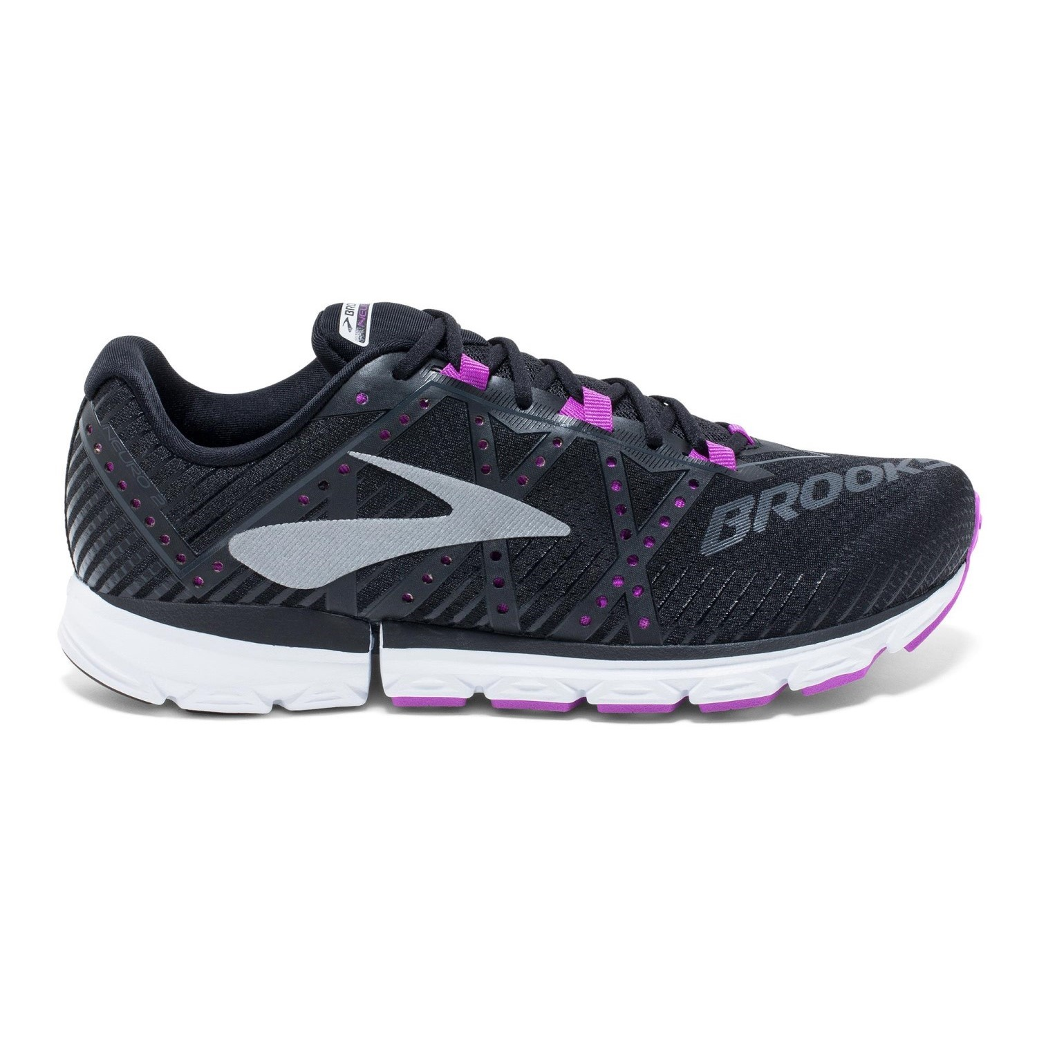 5ca7b1a2c7e Brooks Neuro 2 - Womens Running Shoes - Black Purple White