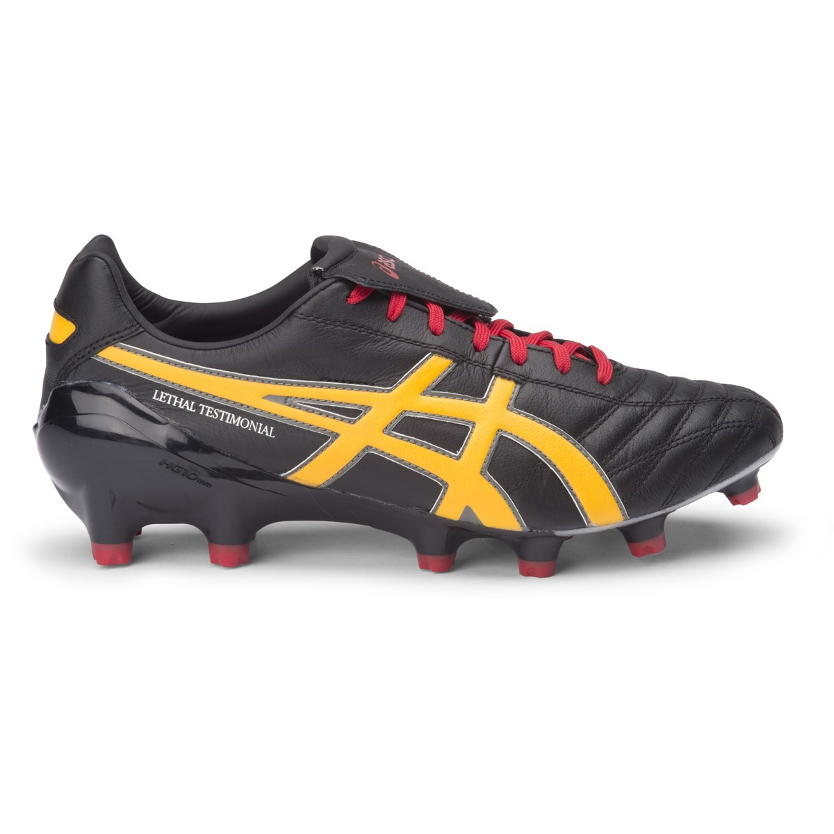 3bf5f181727b Asics Lethal Testimonial 4 IT - Mens Football Boots - Black Burnt Sun Red