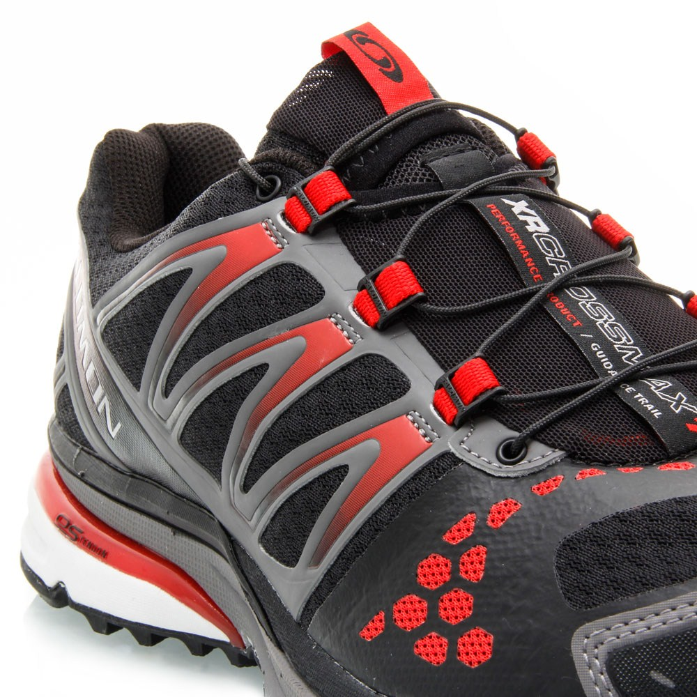 Salomon XR Crossmax Guidance - Mens Trail Running Shoes -  Black Detroit Bright Red 01af0d675b