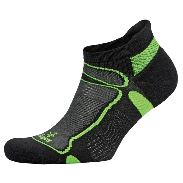 Balega Ultra Light No Show Unisex Running Socks - Black/Neon Lime