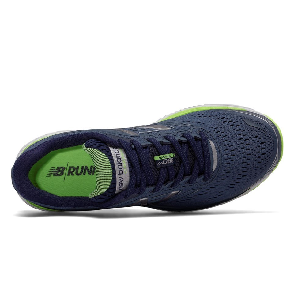 cf7b4bb66faa New Balance 880v7 - Womens Running Shoes - Vintage Indigo Pigment Bleached  Lime Glo