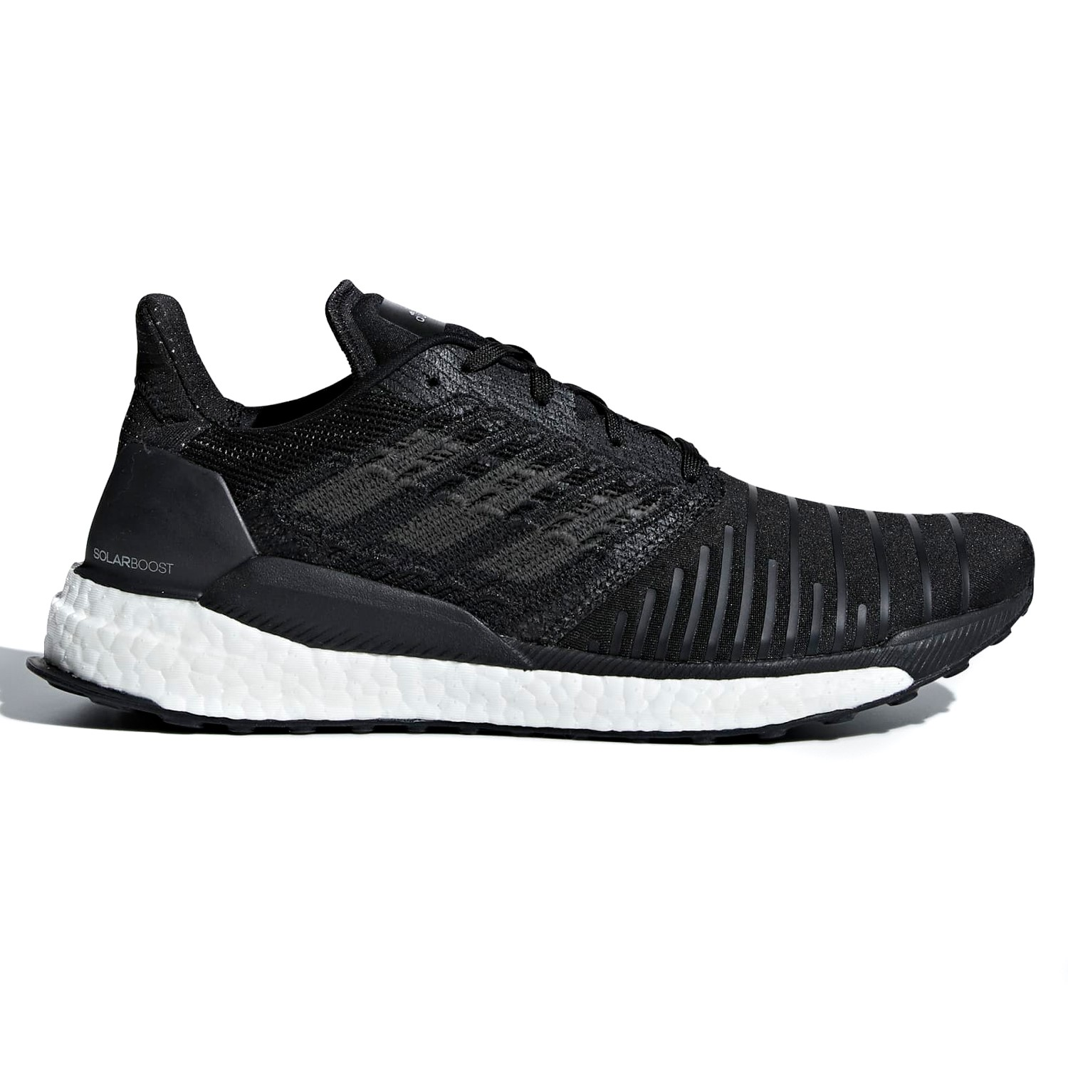 9f230d64cde38 Adidas Solar Boost - Mens Running Shoes - Core Black Grey Footwear White