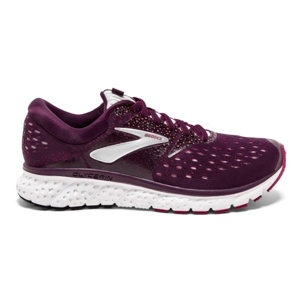 Brooks Glycerin 16 - Womens Running Shoes - Purple/Pink/Grey