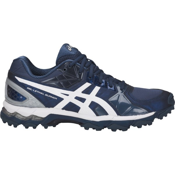 Asics Gel Lethal Burner - Mens Cross Training and Turf Shoes - Dark Blue/White/Silver