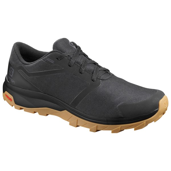 Salomon Outbound GTX - Mens Trail Hiking Shoes - Black/Gum