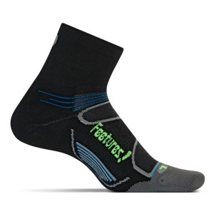 Feetures Elite Light Cushion Quarter - Unisex Running Socks