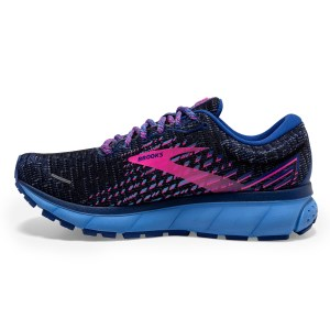 Brooks Ghost 13 - Womens Running Shoes - Pixel Ebony/Blue/Pink