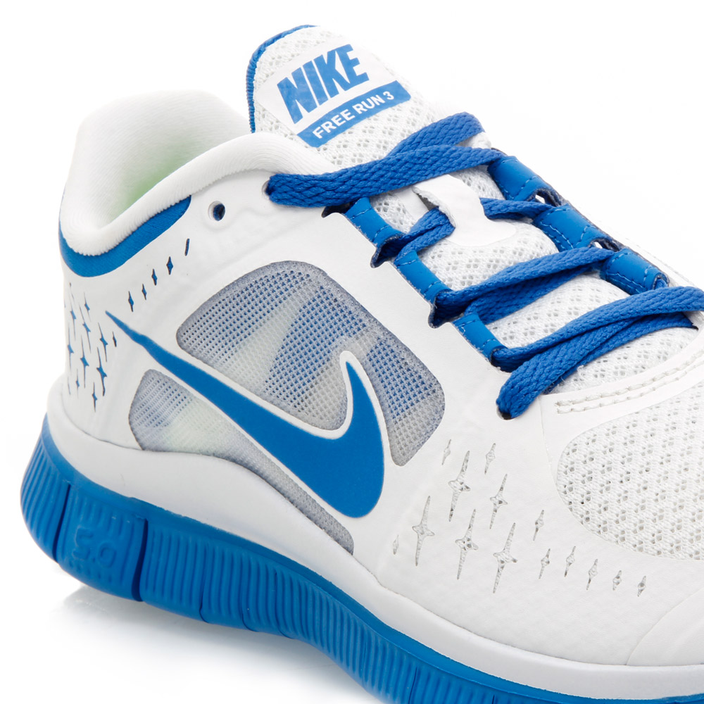 Nike Free Run+ 3 - Womens Running Shoes - White/Blue ...
