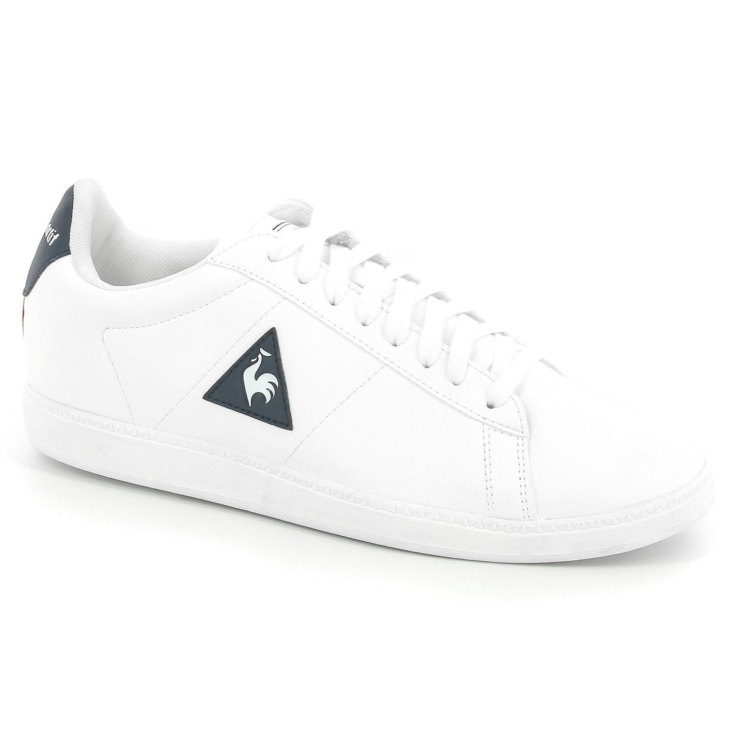 361dc6ba1f Le Coq Sportif Courtset S Lea - Mens Casual Shoes - Optical White/Dress Blue