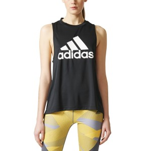Adidas Boxy Logo Womens Training Tank Top