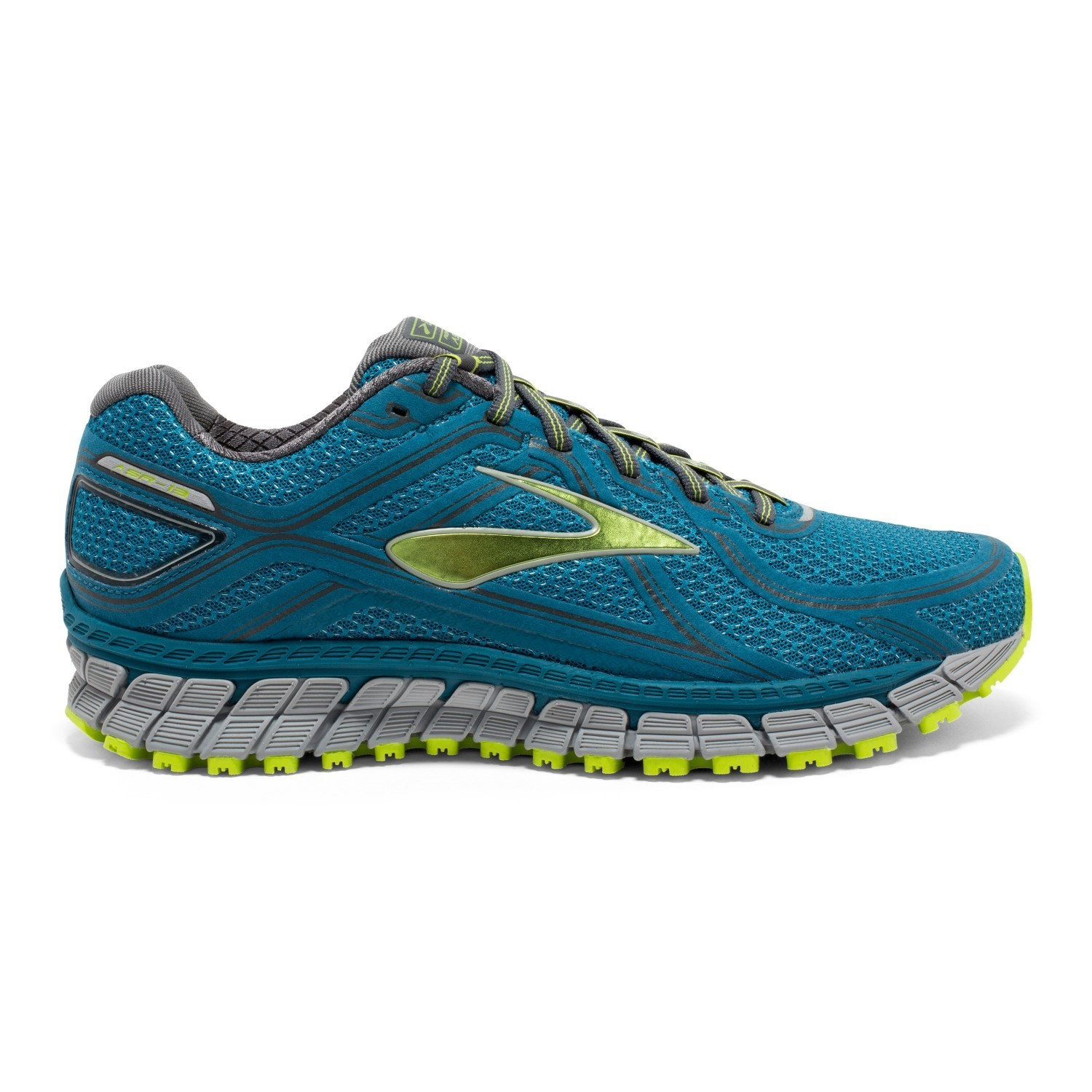 9c42bd581224a Brooks Adrenaline ASR 13 - Mens Trail Running Shoes - Blue Lime  Punch Anthracite