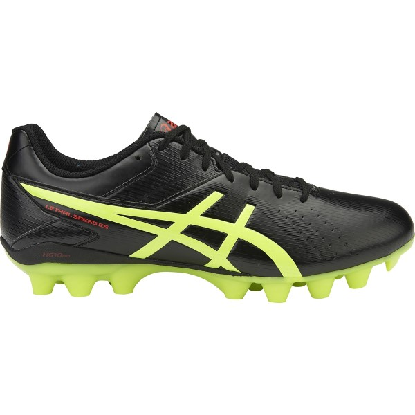 Asics Lethal Speed RS - Mens Football Boots - Black/Safety Yellow/Vermilion