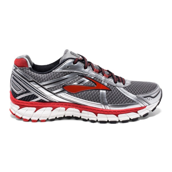 Brooks Defyance 9 - Mens Running Shoes - Charcoal/Silver/Red