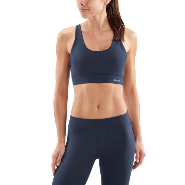 Skins DNAmic Soft Womens Sports Bra - Navy Blue