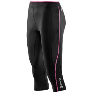 Skins A200 Womens Compression 3/4 Tights - Black/Pink