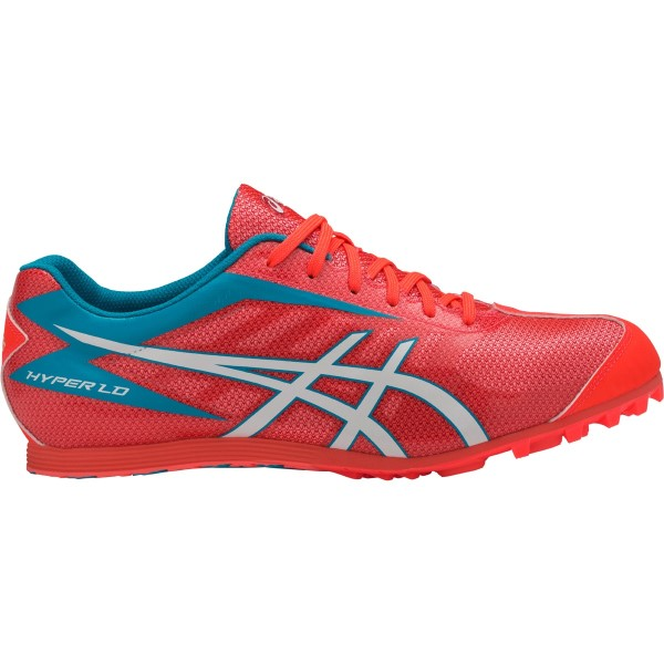 Asics Hyper LD 5 - Unisex Long Distance Track Spikes - Flash Coral/White/Island Blue