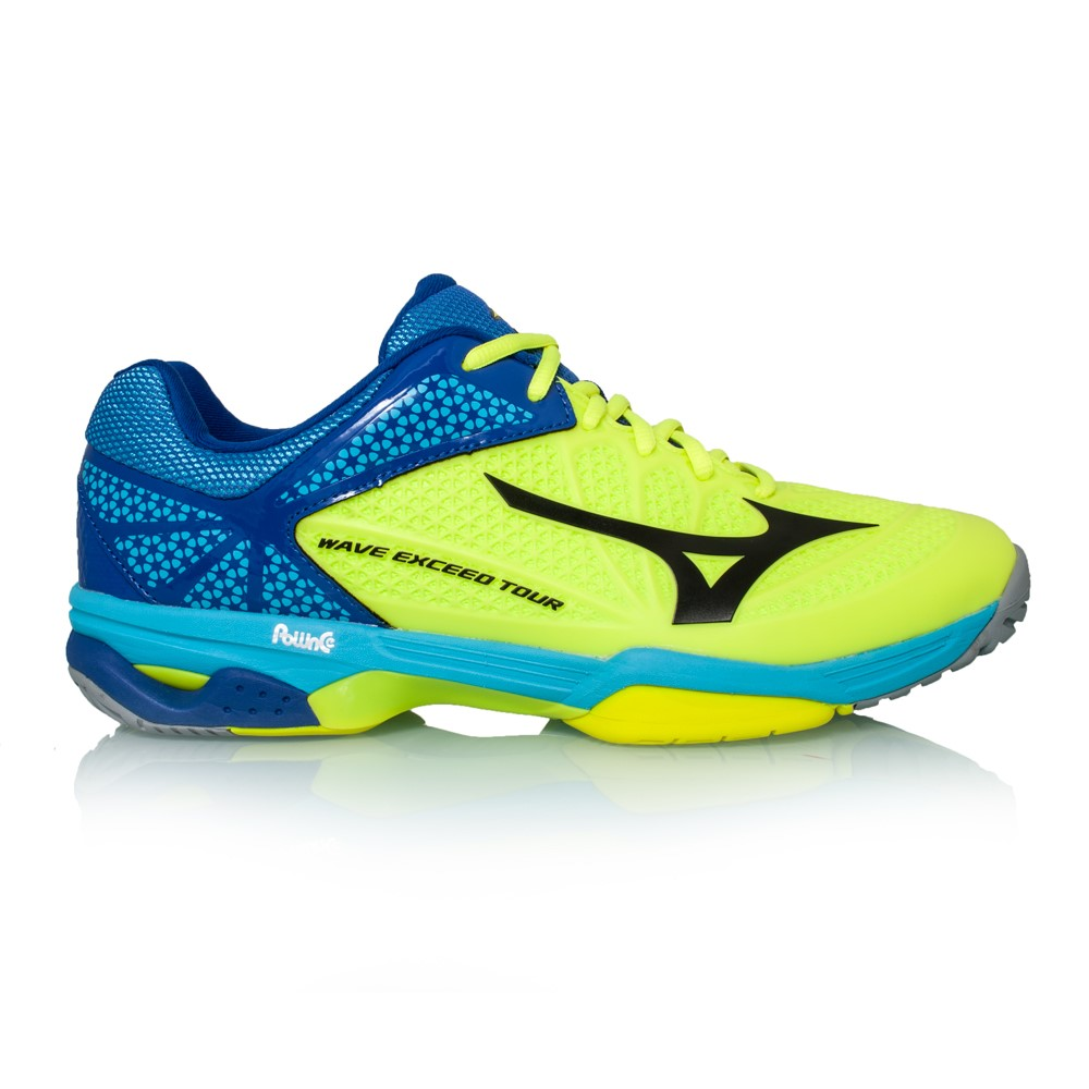 Mizuno Wave Exceed Tour 2 AC - Mens Court Shoes - Neon Yellow/Black/