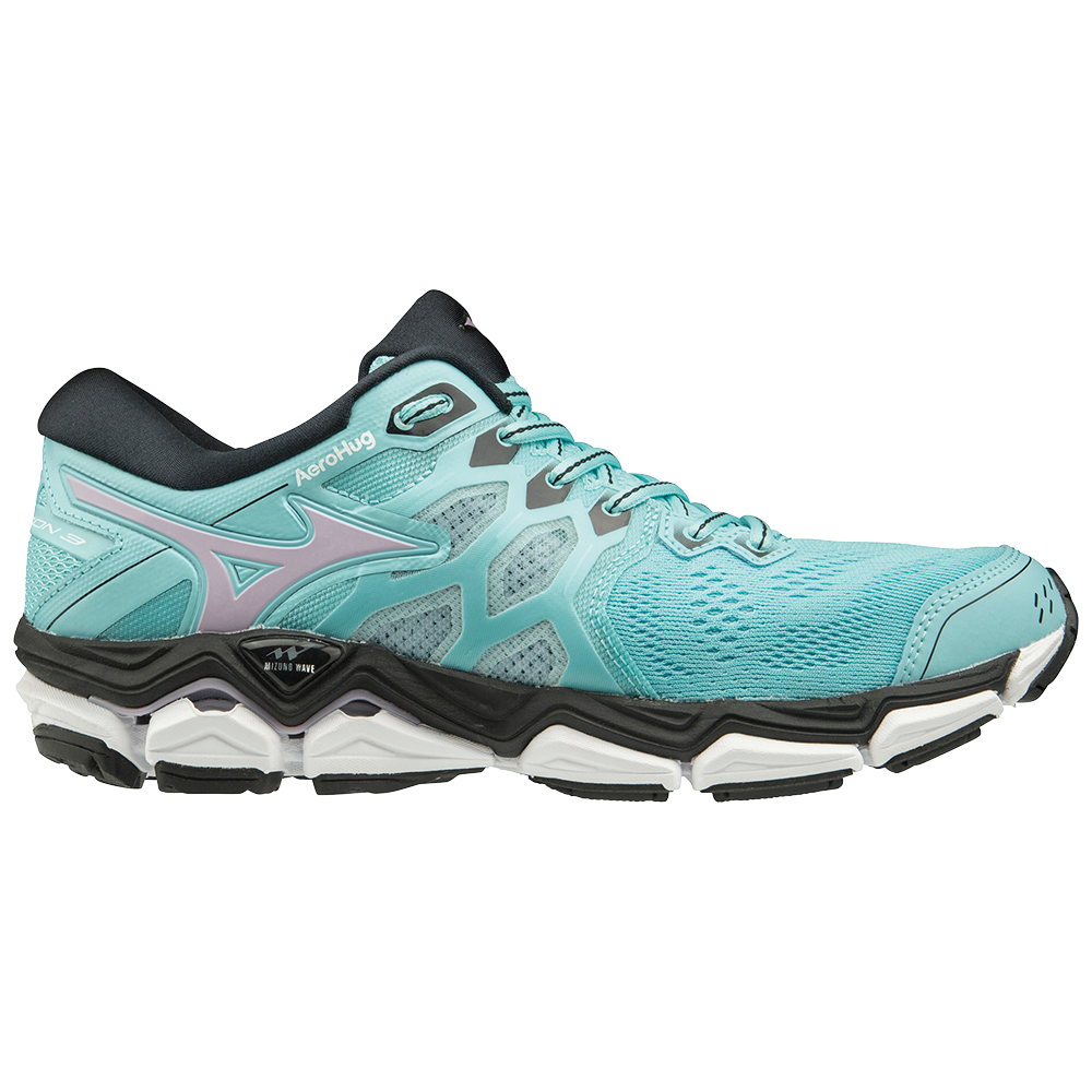 3557088095f Mizuno Wave Horizon 3 - Womens Running Shoes - Angel Blue Lavender Frost