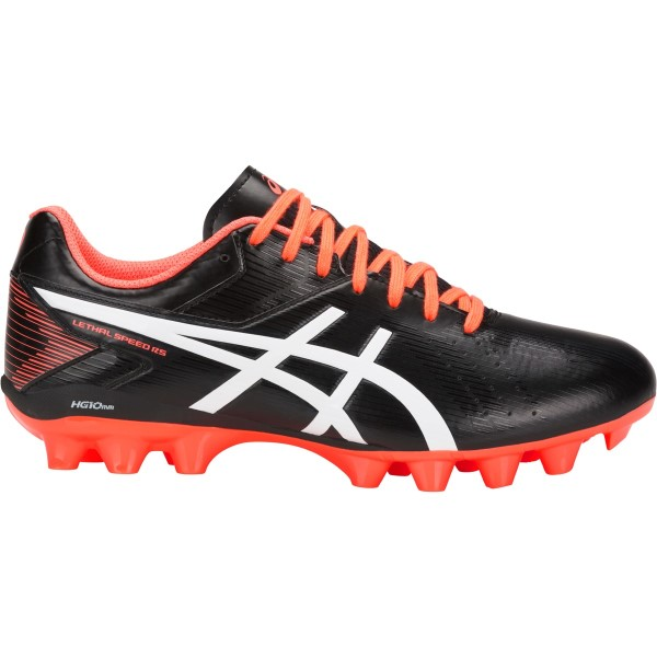 Asics Lethal Speed RS - Mens Football Boots - Black/Flash Coral/White