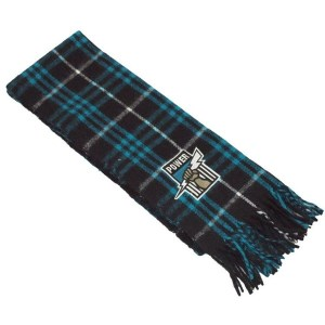 Burley Sekem Port Adelaide Power AFL Tartan Football Scarf