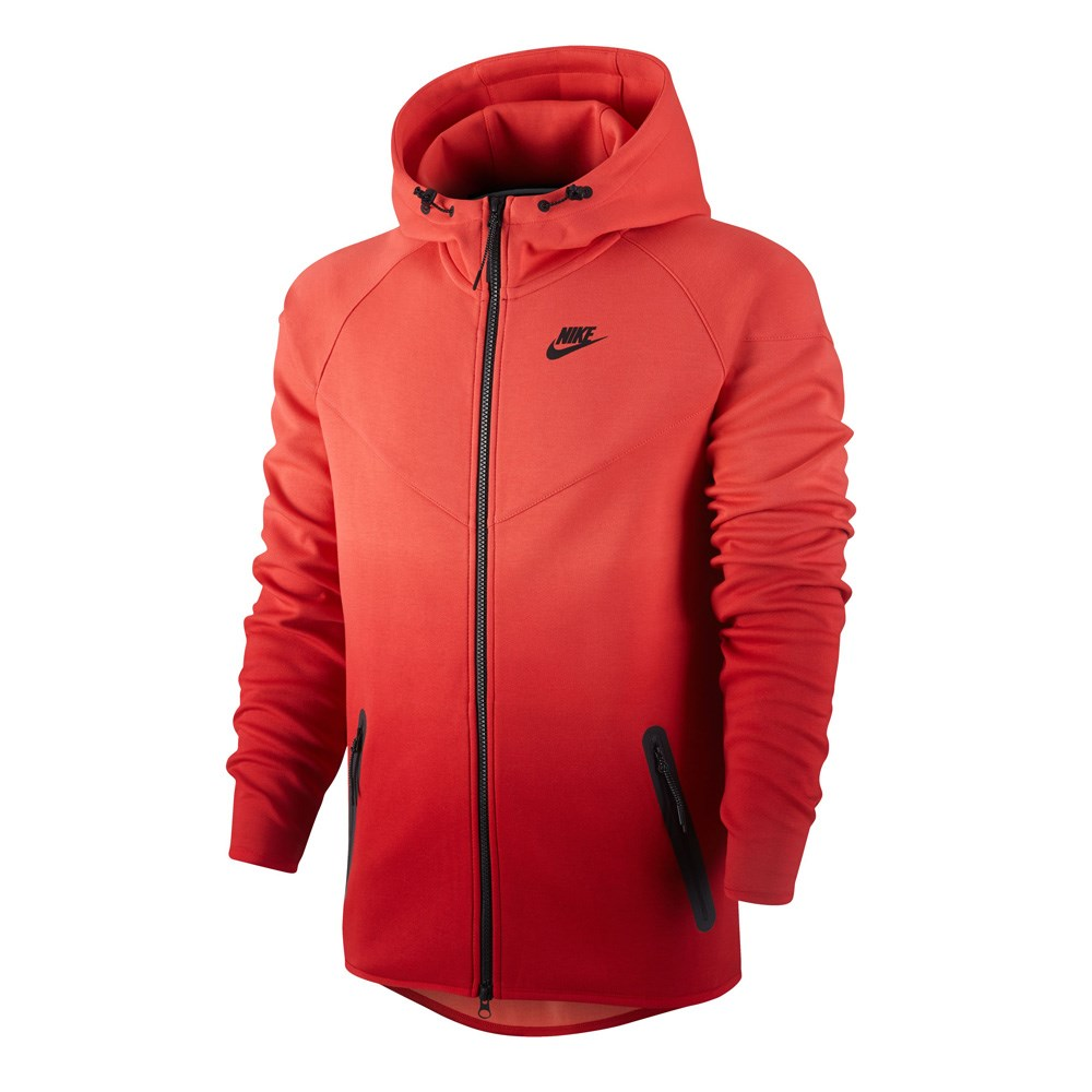 Nike Tech Fleece Fade Windrunner - Mens Hoodie - Rio Gym Red Black ... 39c87b1d0