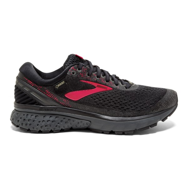 Brooks GTX Ghost 11 - Womens Trail Running Shoes - Black/Pink/Ebony