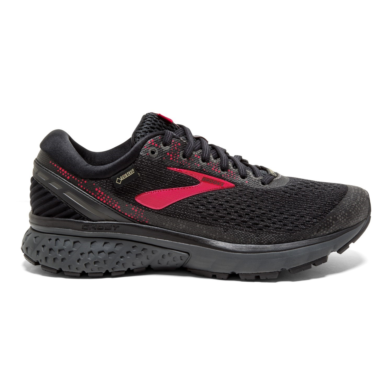 58f773622e725e Brooks GTX Ghost 11 - Womens Trail Running Shoes - Black/Pink/Ebony ...