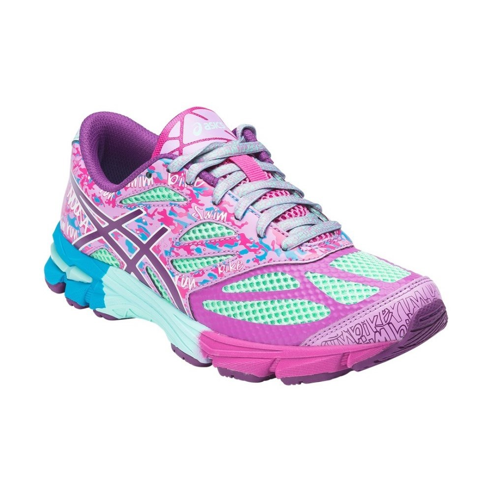 Asics Gel Noosa Tri 10 GS - Kids Girls Running Shoes - Beach Glass/Plum