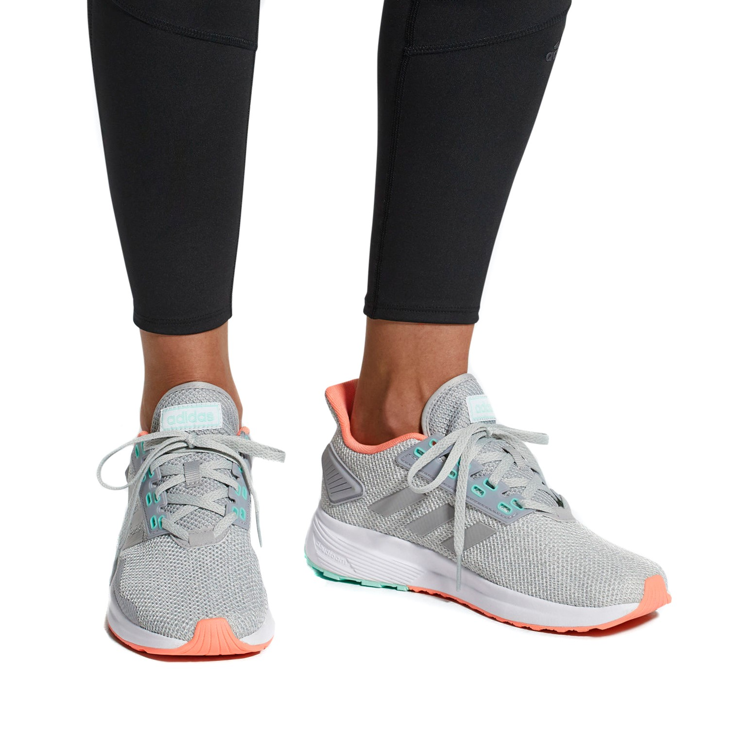 8d1f348a940 Adidas Duramo 9 - Womens Running Shoes - Grey Chalk Coral Green ...
