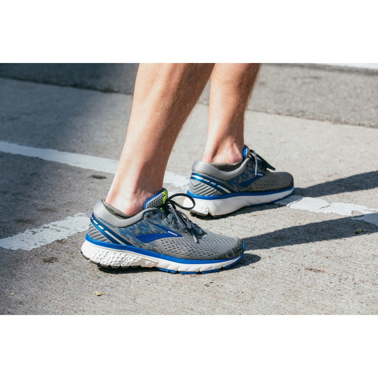 7639525b4e2 Brooks Ghost 11 - Mens Running Shoes - Grey Blue Silver