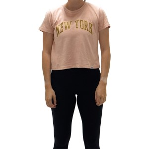 Majestic Athletic New York Yankees Archy Womens Baseball Crop T-Shirt
