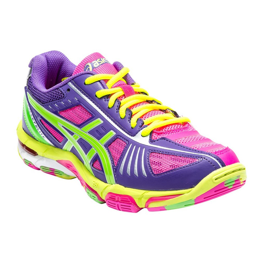 Asics Gel Volley Elite 2 - Womens Volleyball Shoes - Pink/Neon ...