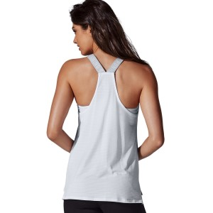 Running Bare Cosmic Womens Training Tank Top - White Heather