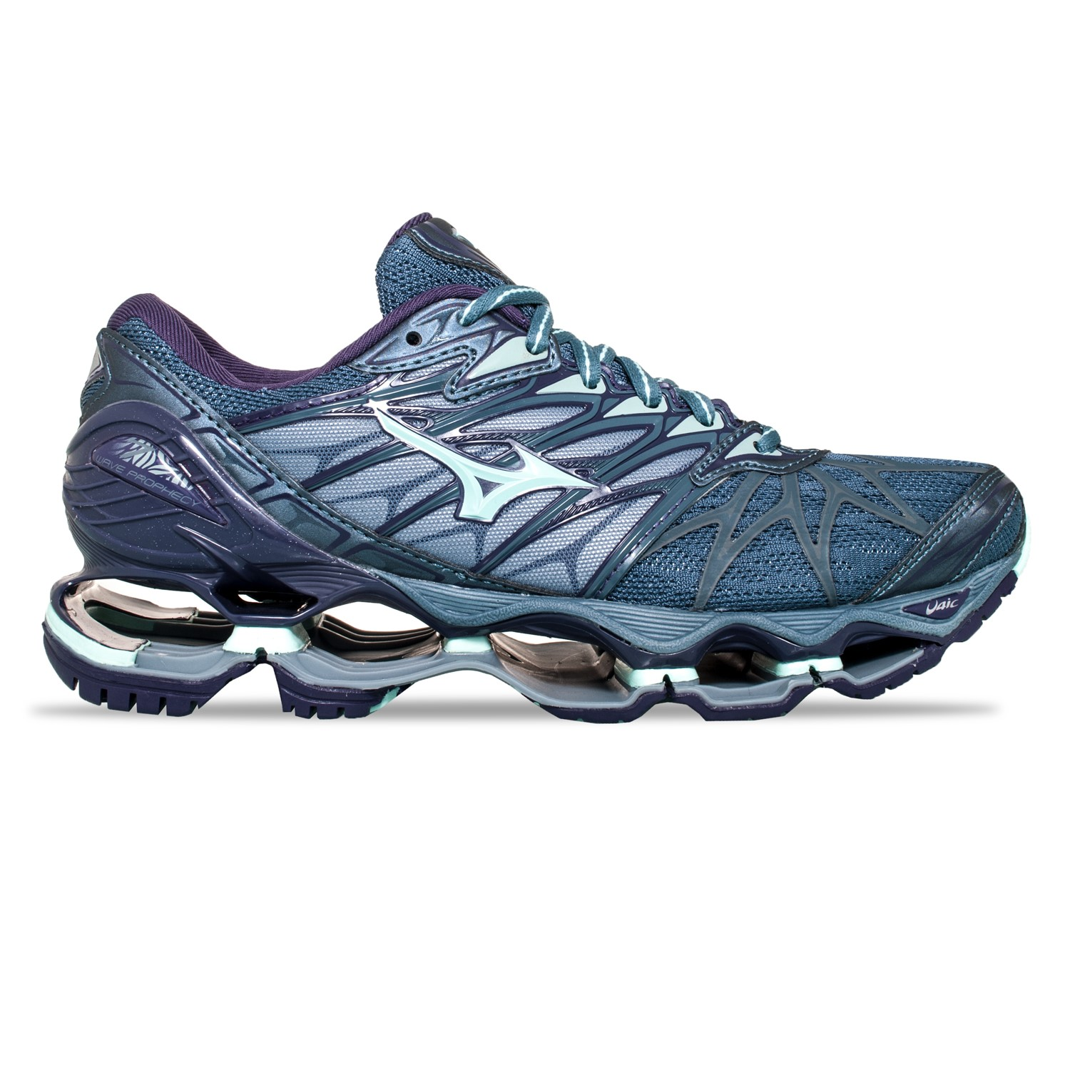 227588b2eff3 Mizuno Wave Prophecy 7 - Womens Running Shoes - Blue Mirage/Brook  Green/Purple