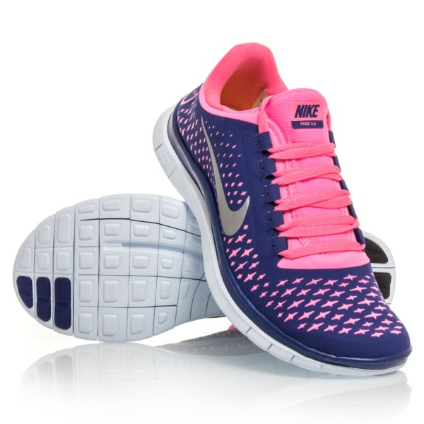 5f2107ccddd2 Nike Free 3.0 V4 - Womens Running Shoes - Purple Pink