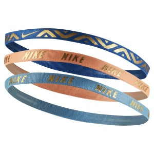 Nike Youth Printed Metallic Hairbands - Assorted 3 Pack