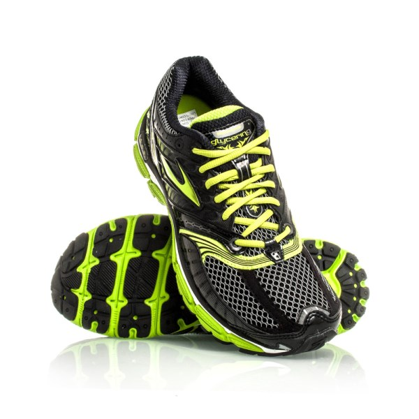 glycerin 9 mens running shoes black lime green