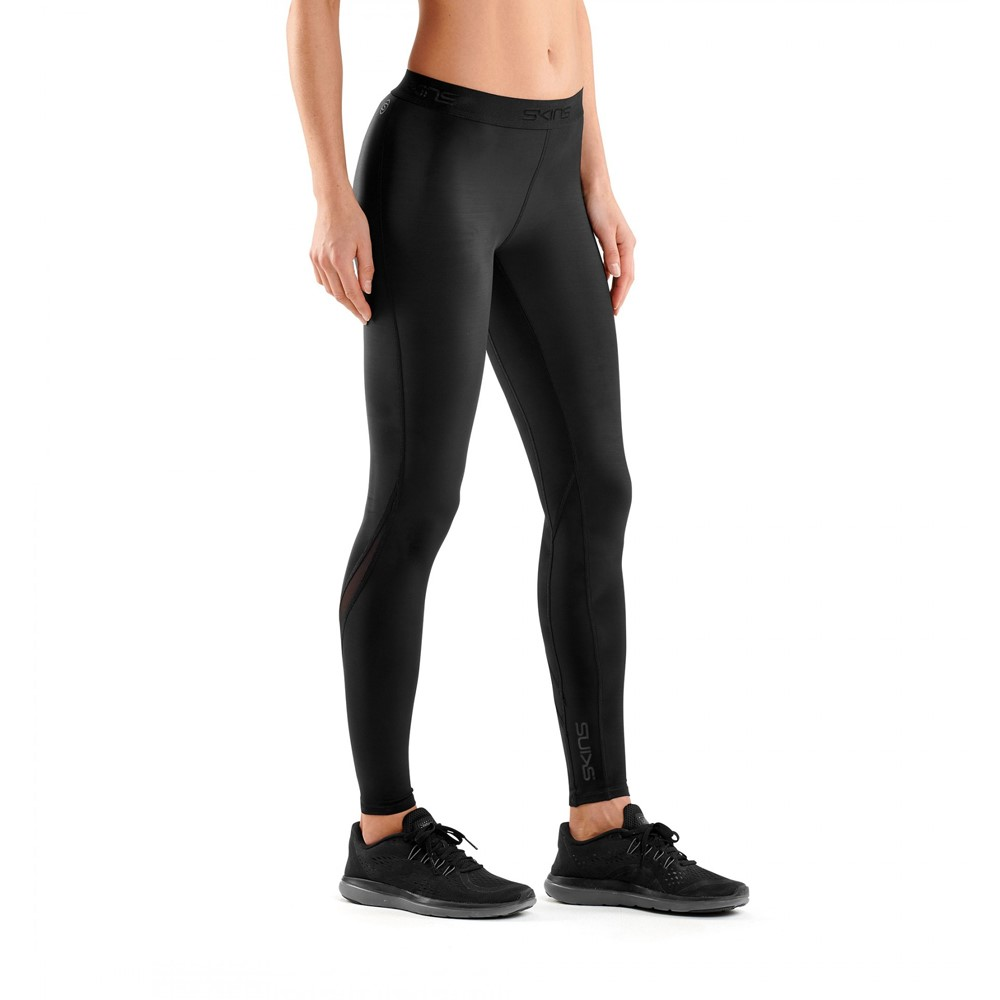 77088671b92f16 Skins DNAmic Womens Compression Long Tights - Black/Black | Sportitude