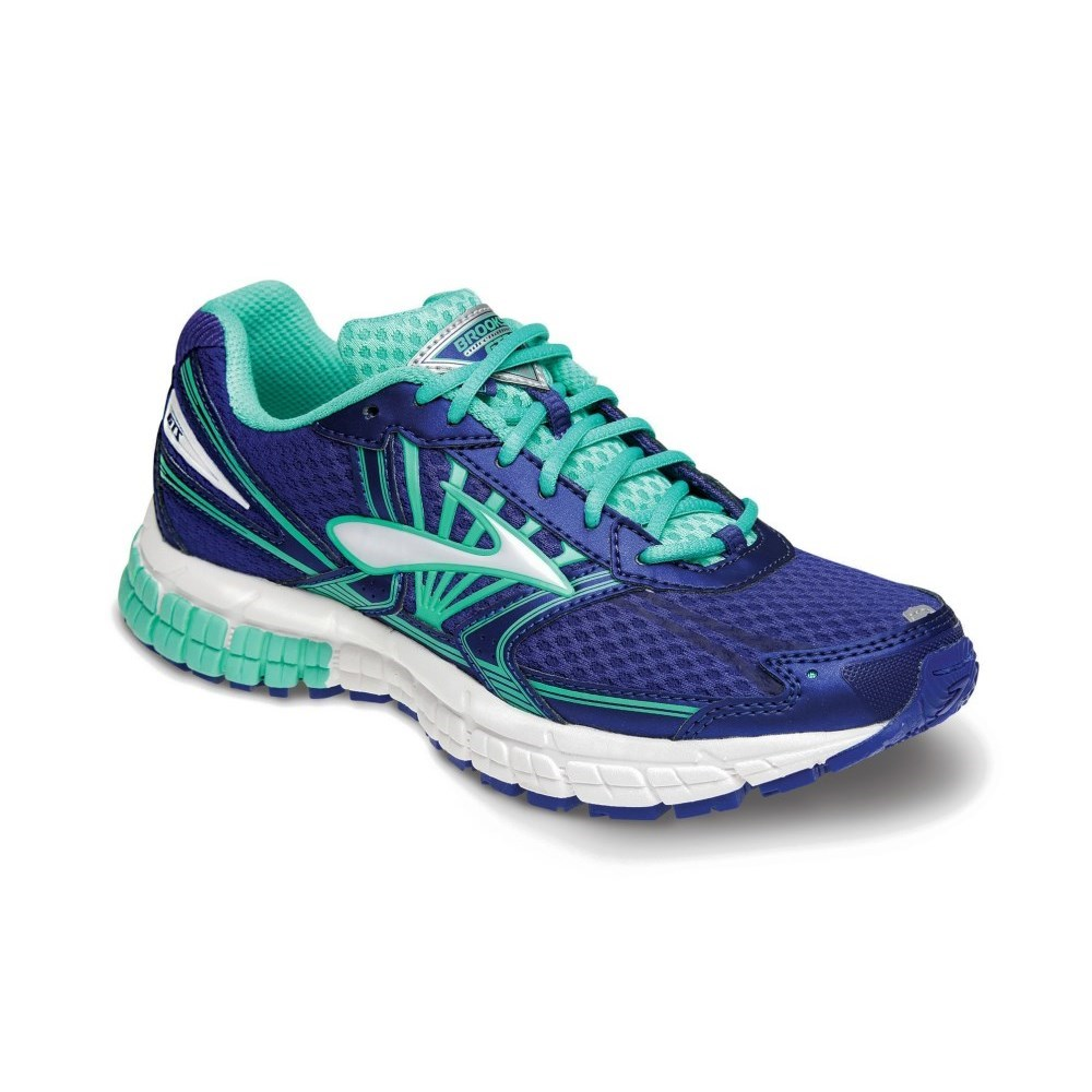 low priced 95087 59970 Brooks Adrenaline GTS 14 - Kids Girls Running Shoes - Clematis Blue Biscary  Green