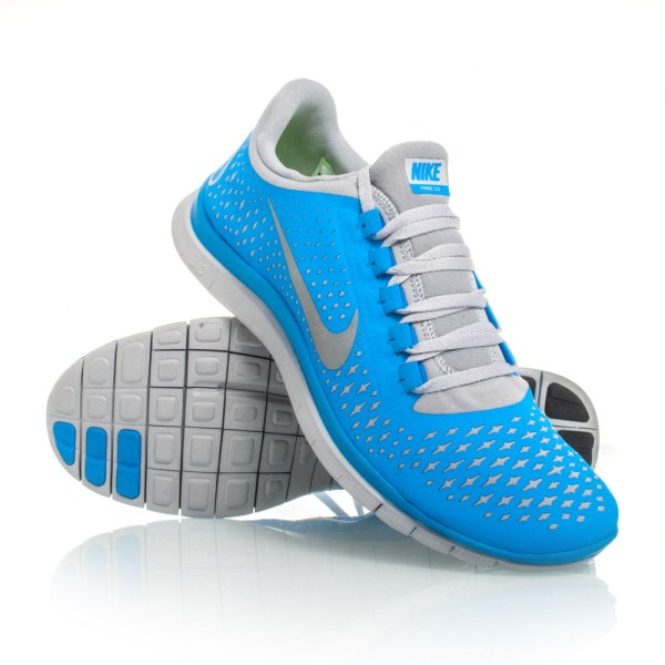 d67301c868d1 Nike Free 3.0 V4 - Mens Running Shoes - Light Blue Grey